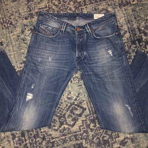 Men's Diesel Larkee Zip Straight Leg Jeans 31/30